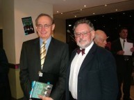 """Peter Prineas with Bob Carr at the Sydney launch of """"Katsehamos"""""""