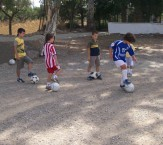 And the junior soccer squad kept on learning its drills...