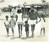 Archie Kalokerinos 1927-2012. With Aboriginal children at Collarenebri, north western NSW, 1971