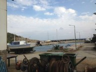 The Fishermans wharf slightly to the north of Ayia Pelagia