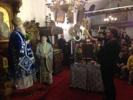Valerios Kalokerinos video-taping the Archbishop of Kythera