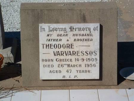 Theodore Varvaressos Moree NSW Australia 1909-1956