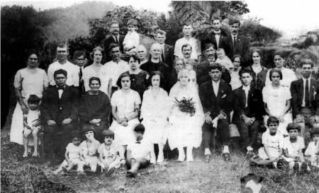 Wedding of Mick Kotzas and Chrisafena Lucas, North Queensland, 1927.