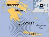 Earthquake shakes southern Greece.