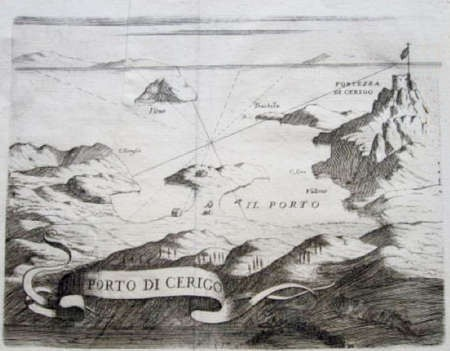 Map of Kapsali & Hora ca. 1696