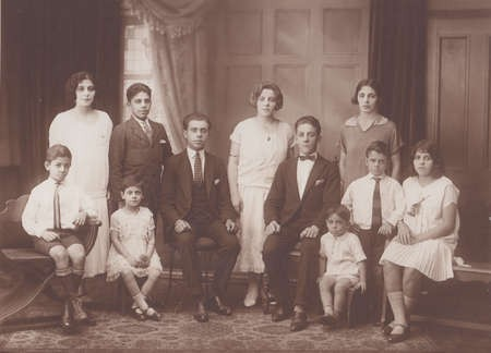 My mother with her 10 brothers and sisters