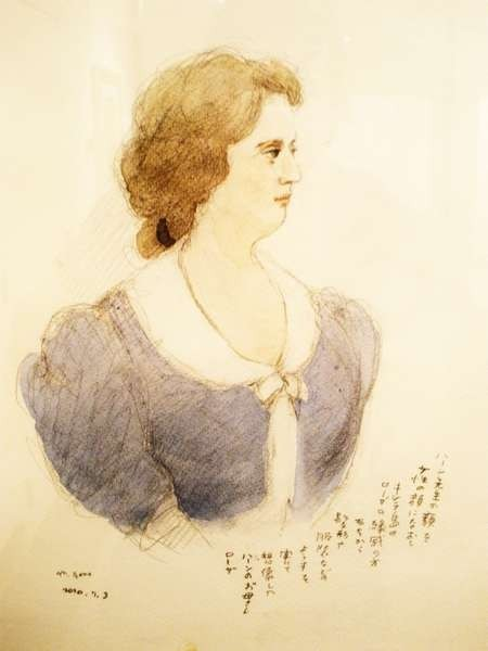 Mitsumasa Anno's portrait of Rosa Cassimati drawn from reminiscences and  'enhanced' by Maxwell Stillwell