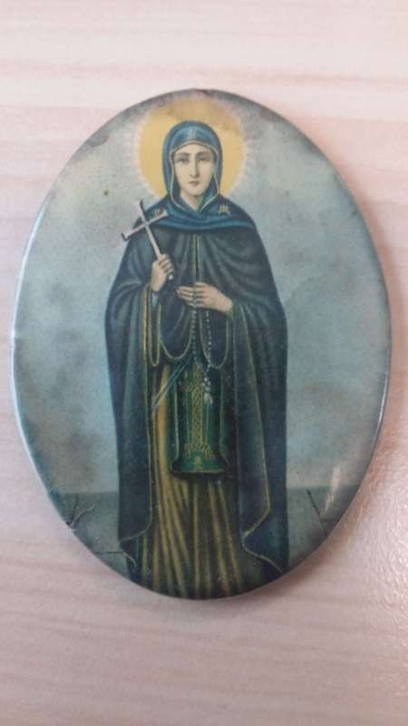 Ayia Paraskevi. The patron saint icon that Peter V'landys carries with him