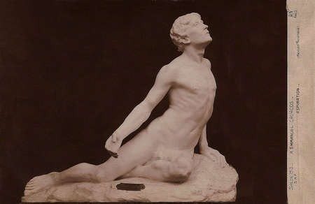 Emmanuel Andrew Cavacos - Postcard of Aspiration This sculpture, entitled Aspiration, won honorable mention at the Solon des Artistes Francais in 1913 A