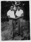 Manuel (Belos) Coroneos & Vangelli (Hlihlis) Tzortzopoulos, from Karavas. 1940's.