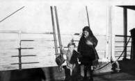 Ruby (Hericlea) Megaloconomos (family nickname -Caponas) and Micky on the boat to Australia