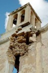 Earthquake of 8.1.2006 – Mitata church, north-west bell tower