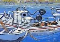 Fishing boats, Kythera, Crete.