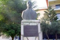 Statue of Lafcadio Hearn (Koizumi Yakumo), in the park on the Beach in Lefkada