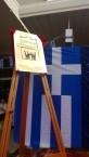 The Greek flag took pride of place at the celebrations