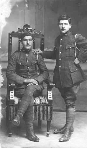 Andonis D. Gavrilis Greek Army 1921 with friend