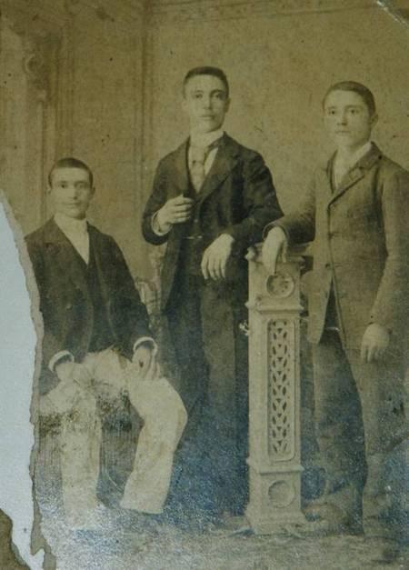 Three Panaretos Brothers circa 1908