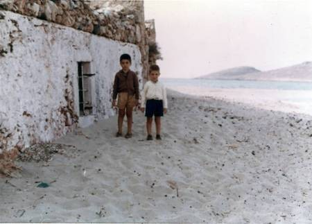 Brothers Jim and Theodore Aroney at Diakofti in 1966