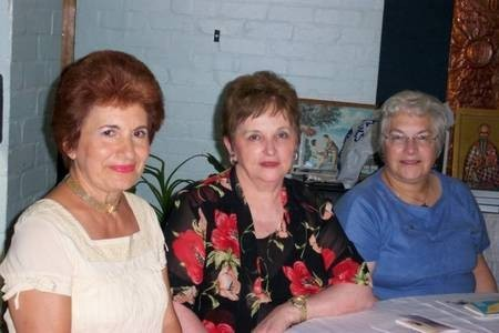 Mrs Nicolau (left) and friends.