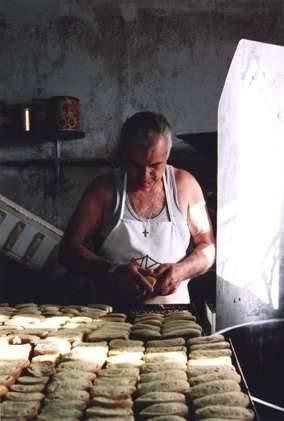 Making Paximadia at Karvounades Bakery