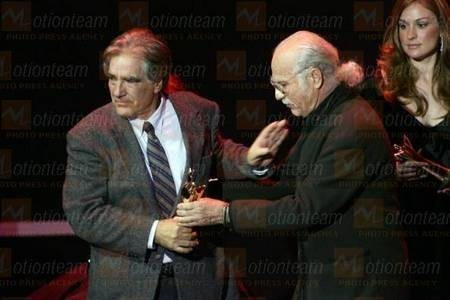 """Kytherian"" Ari Stavrou receiving his award for best Cinematographer at the Thessaloniki International Film Festival"