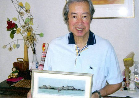 Sept 2008. (9) Toki Koizumi, the grandson of Lafcadio Hearn visits Kythera to pay homage to his grandparents.