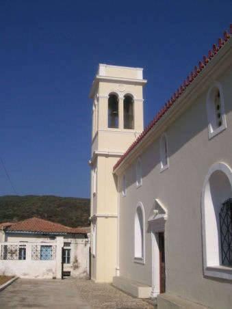 Longer view of the southern side of the Church of Ayios Haralambos, Karavas