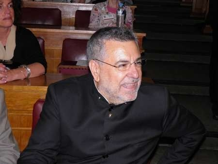Makis Tselios photographed at the Eptanesian awards
