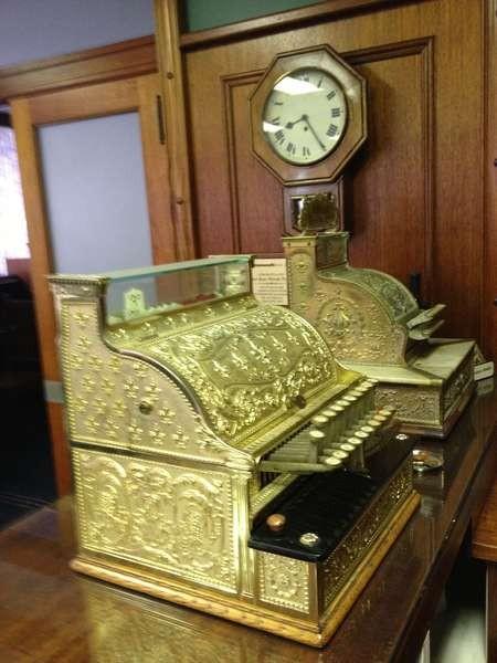 Cash registers in situ in a Greek-Australian boardroom