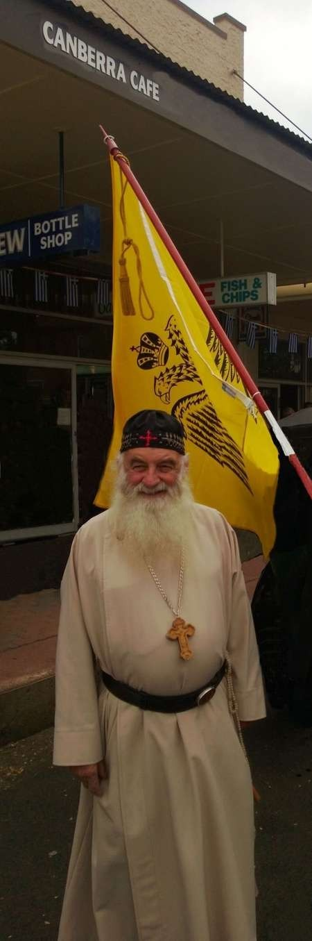 The Calokerinos family were honoured to have Hieromonk father John