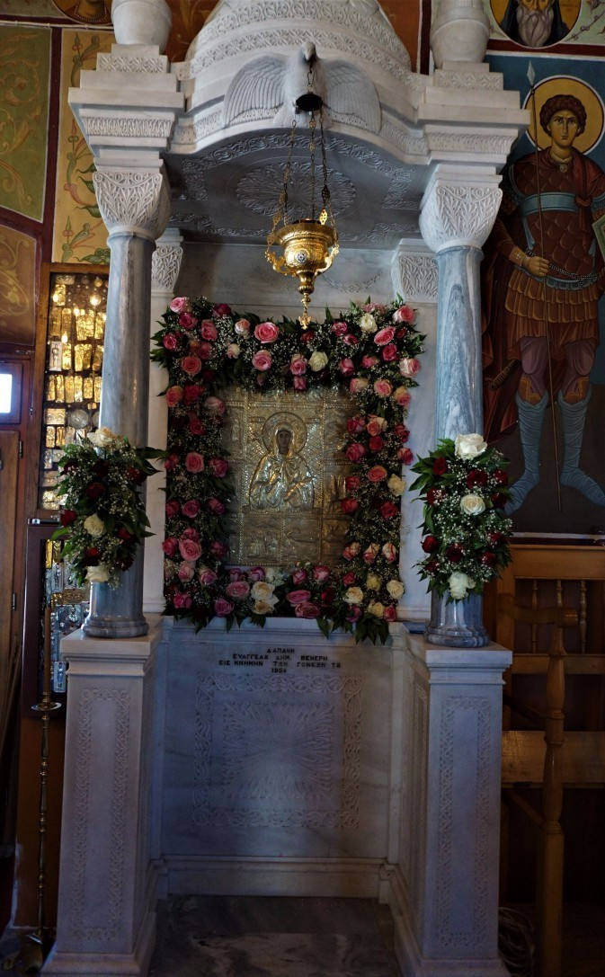 the icon at agia ellessa..