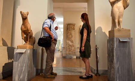 Greek Antiquities, Long Fragile, Are Endangered by Austerity - 0 A closed room at the National Archaeological Museum