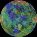 Hemispheric View of Venus Centered at 0 Degrees East Longitude