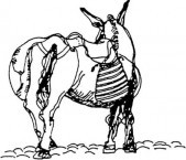 Donkey icon of the Karavaitiko Symposium.