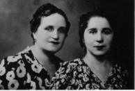 My mother Maria Kalokairinou with her sister Titika