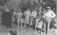 Koroneos Family, Karavas, uryazzi-ing - ploughing. 1930's.