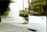 Iconic photograph of George Feros, Byron Bay