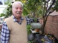 Tsigli in his garden