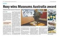 Roxy wins Museums Australia award