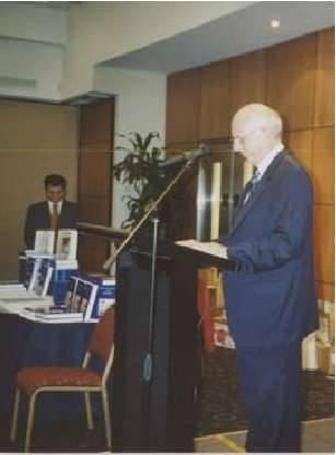 His Excellency Mr Stuart Hume, Australia's retiring Ambassador to Greece, launching Hugh Gilchrist's Australians and Greeks: Volume III...