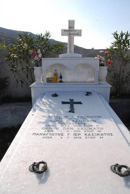Family Plot of Panagiotis Kasimatis, Drymonas Cemetery