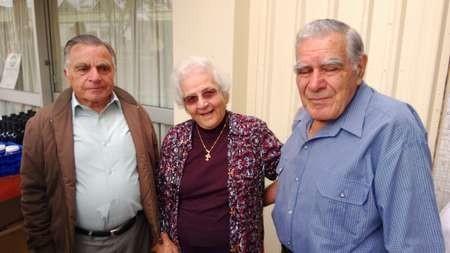 Jim Kalokerinos, and Irene Cominos with Paul Calokerinos.