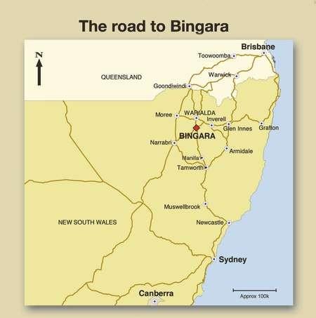 The road to Bingara